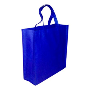 5 Pack BLUE Promo Tote Bags Reusable Grocery and Travel Totes or Party Favor Gift Bags (Blue)