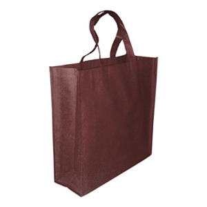 5 Pack BROWN Promo Tote Bags Reusable Grocery and Travel Totes or Party Favor Gift Bags (Brown)