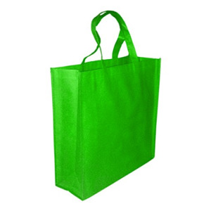 5 Pack GREEN Promo Tote Bags Reusable Grocery and Travel Totes or Party Favor Gift Bags (Green)