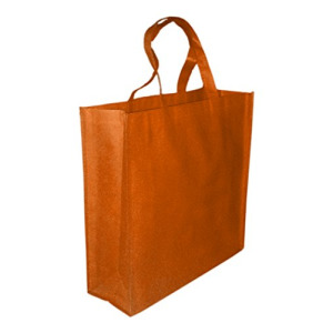 5 Pack ORANGE Promo Tote Bags Reusable Grocery and Travel Totes or Party Favor Gift Bags (Orange)
