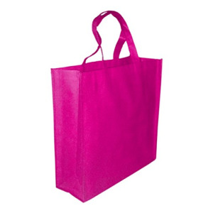 5 Pack PINK Promo Tote Bags Reusable Grocery and Travel Totes or Party Favor Gift Bags (Pink)