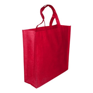 5 Pack RED Promo Tote Bags Reusable Grocery and Travel Totes or Party Favor Gift Bags (Red)