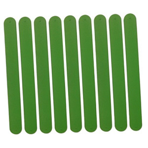 9 GREEN Silicone Slap Bracelets - Soft & Safe for Kids Boys & Girls Party Favors - Durable