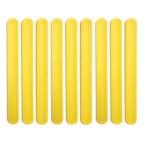 9 YELLOW Silicone Slap Bracelets - Soft & Safe for Kids Boys & Girls Party Favors - Durable by TheAwristocrat