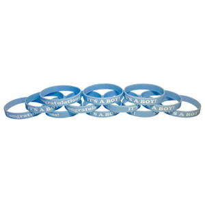"IT'S A BOY! Wristbands Baby Shower Party Favors Bracelets (IT'S A BOY! Adult (8"" 202mm))"