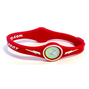 ZEN-ERGY Balance Bands - for Power, Strength, Agility, Focus, Well Being, & Positive Energy Flow (Red Band with White, Large (202mm))