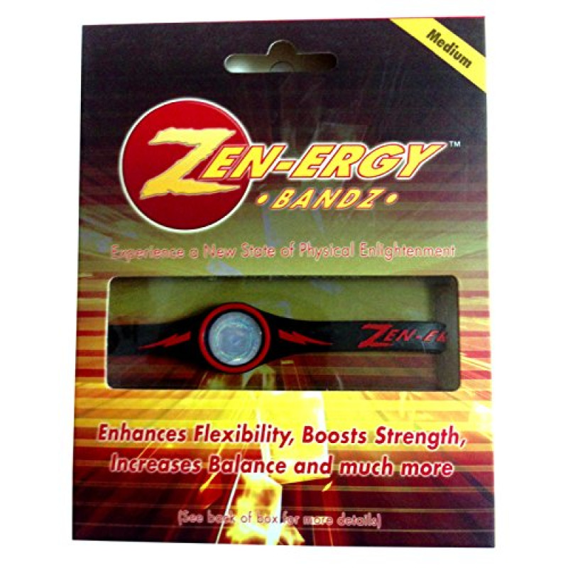 ZEN-ERGY Balance Bands - for Power, Strength, Agility, Focus, Well Being, & Positive Energy Flow (Black Band with Red, Medium (190mm))